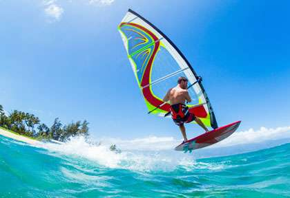 Windsurf à Hawaii