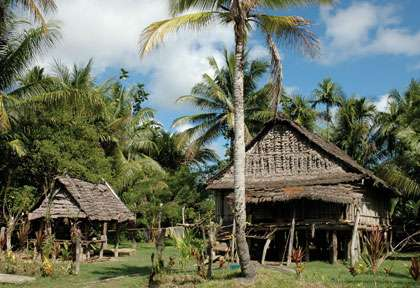 Village de la région de Milne Bay
